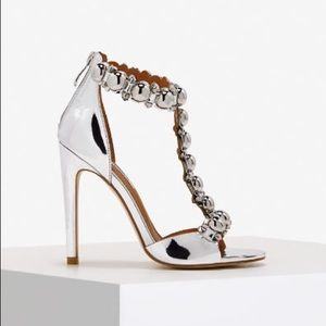 077334109f122 Shoes - ➰ Silver Bauble Jewel Beaded T strap heels ➰